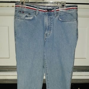 Vintage Tommy Jeans w/ red/white/blue band